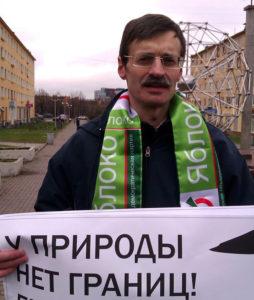 Дмитрий Рыбаков - участник многих гражданских акций в Карелии. Фото: facebook.com