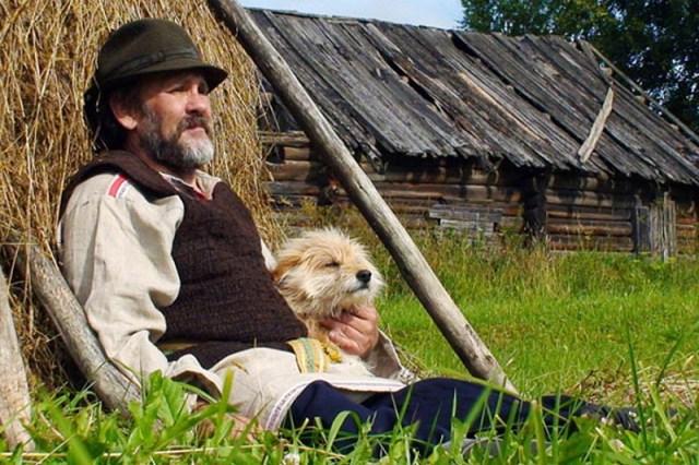 Николай Абрамов в роли Николая Клюева. Фото со съемок фильма