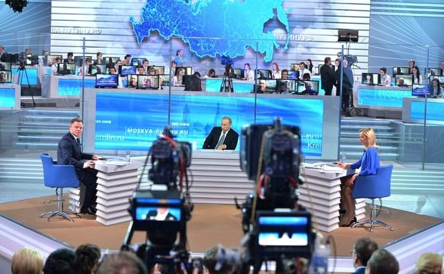 Прямая линия с Путиным. Фото: kremlin.ru