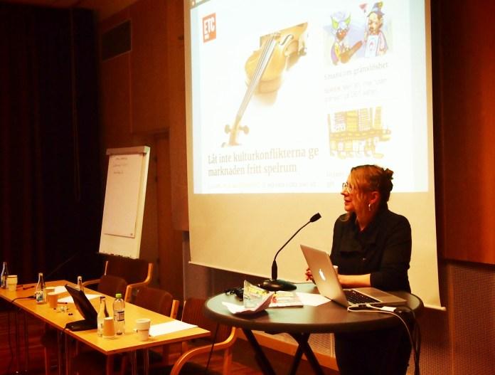 Главный редактор нового оппозиционного издания из шведского города Умео Лиселотт Холм. Фото: Валерий Поташов