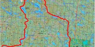 """Карта-схема охотничьего хозяйства """"Ухтуа"""" в Калевальском районе Карелии"""