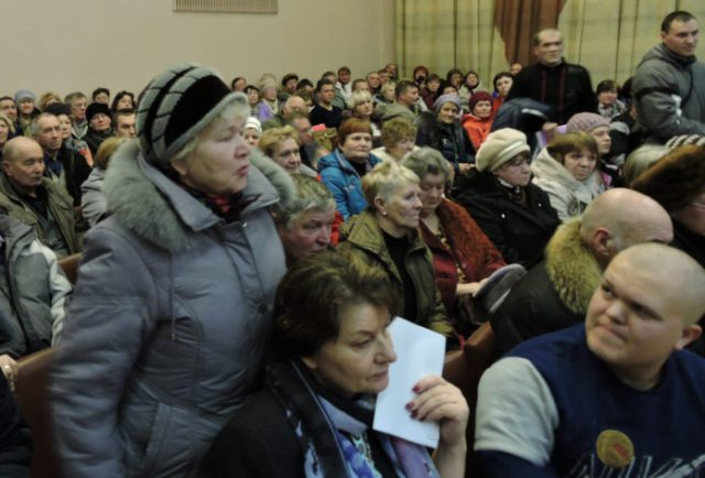 На сходе в Олонце. Фото: Алексей Владимиров