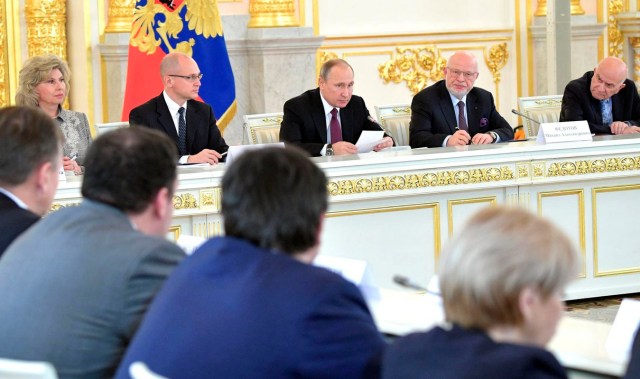 На заседании Совета по правам человека при президенте РФ. Фото: президент.рф