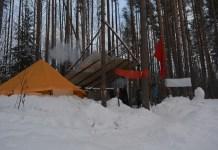 Лагерь защитников Сунского бора. Фото: Алексей Владимиров