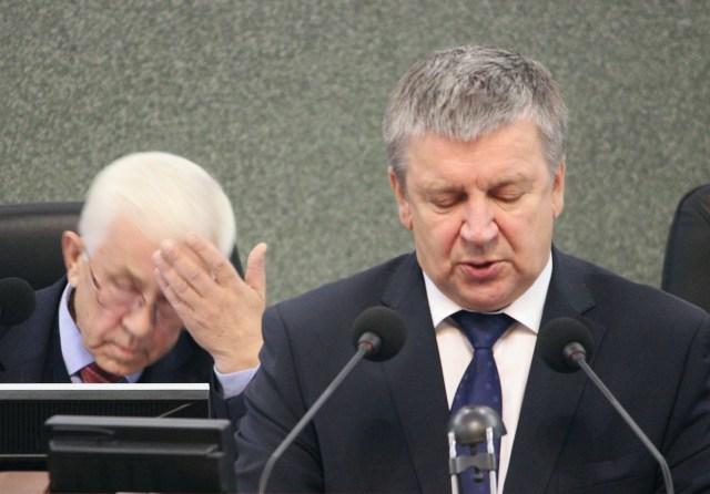 Экс-губернатор Карелии Александр Худилайнен. Фото: Сергей Мятухин