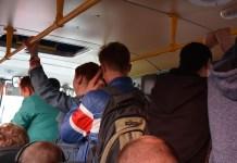 В таких условиях вынуждены ездить сейчас в Петрозаводск жители районных центров Карелии. Фото: Алексей Владимиров