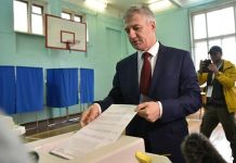 Врио главы Карелии Артур Парфенчиков голосует на выборах сам за себя? Фото: twitter.com