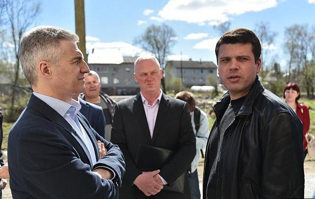 Губернатор Парфенчиков и экс-министр Матвиец в Сортавале. Фото: правительство Карелии