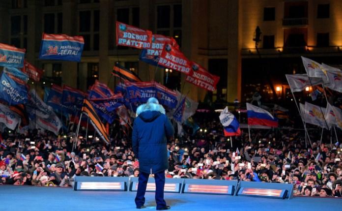 Путин на митинге в Москве. Фото: kremlin.ru
