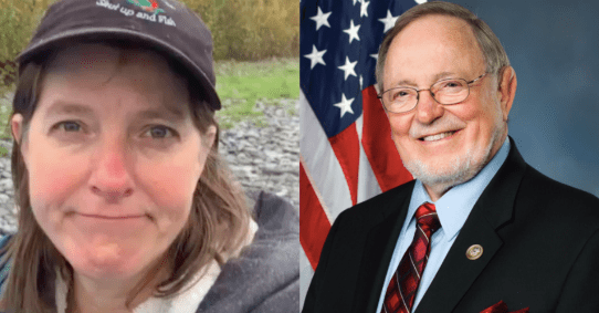 Alyse Galvin and Don Young
