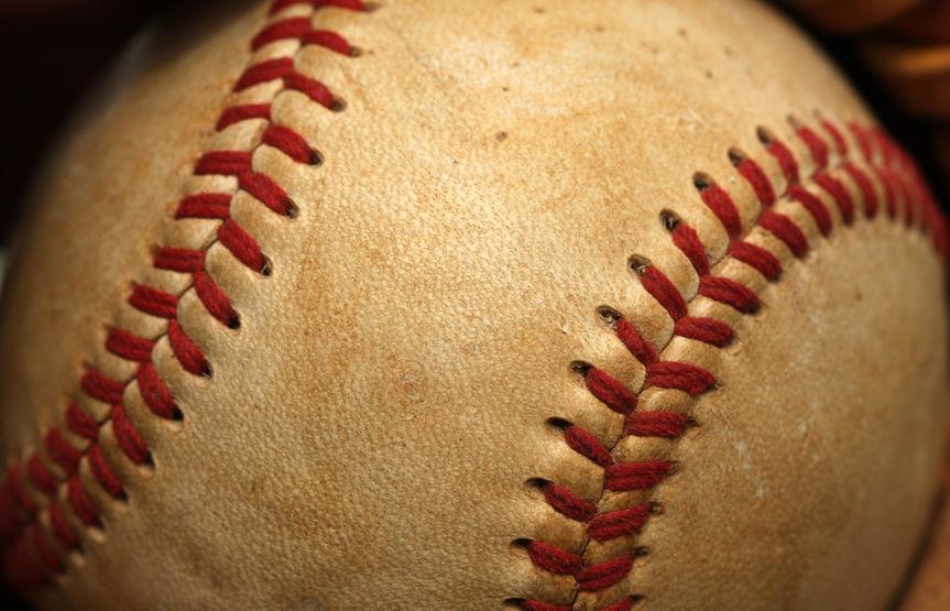 Worn Baseball Close up
