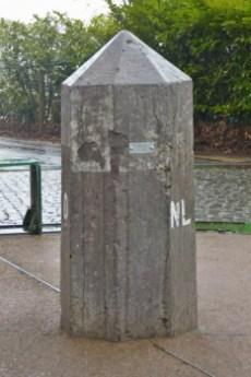 Border Poal at Dutch, Belgian, German Border.