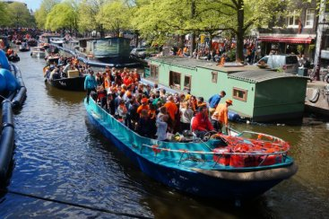 Gay Parade and Kingsday are you see traffic jams on the Canals.