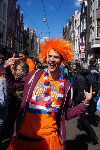 The colour orange rules on Kingsday
