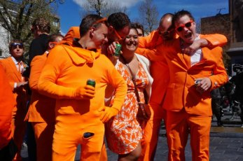Tourists in Orange