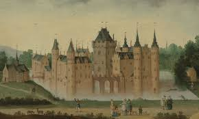 The Castle of Egmond in the 16th century.