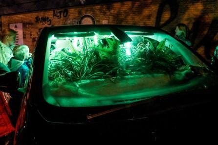 Garden in a car