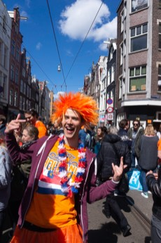 Visit Holland but on the Dutch King's Day Dress Code is Orange