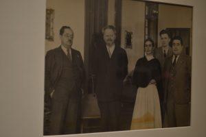 Frida Kahlo en compañia de León Trotsky