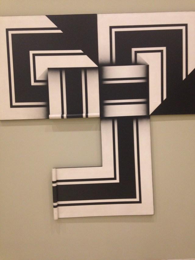 Omar Rayo [Aquí viene la lógica, aquí viene la ausencia], 1973 Acrílico sobre tela Museo de Arte Moderno INBA-Conaculta