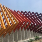 """At the paseo of the sculptures the sculpture """"Coatl"""" by Helen Escobedo one of the creators of Sculptural Space"""