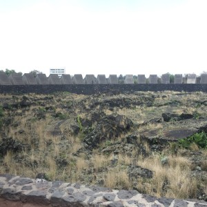 """The UNAM's Sculptural Space. A the back of this Space the """"H"""" building."""