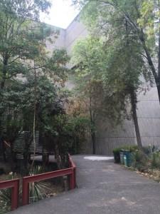 Pasaje entre los edificios del CCU.