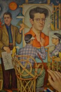 Reproducción de pintura sobre el Arquitecto Juan O'Gorman (Oleo original en el Museo de Arte Moderno)