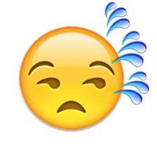 Sweaty emoji