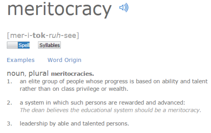 Untrue Propaganda_meritocracy definition