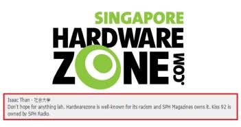 hardwarezone forum racism