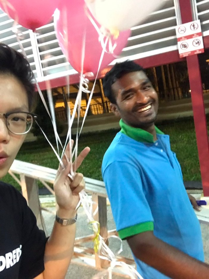 foreign worker balloons