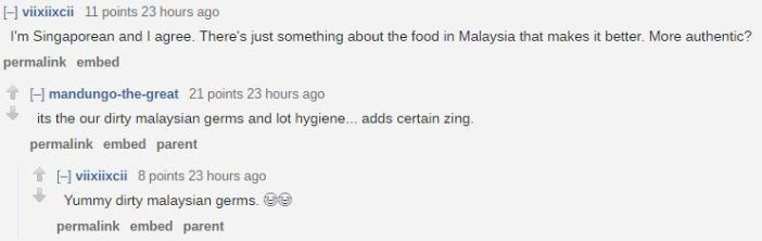 Malaysia Reddit Thread Claims Food In Malaysia Is Tastier Than Food In Singapore And Explains Why_GERMS