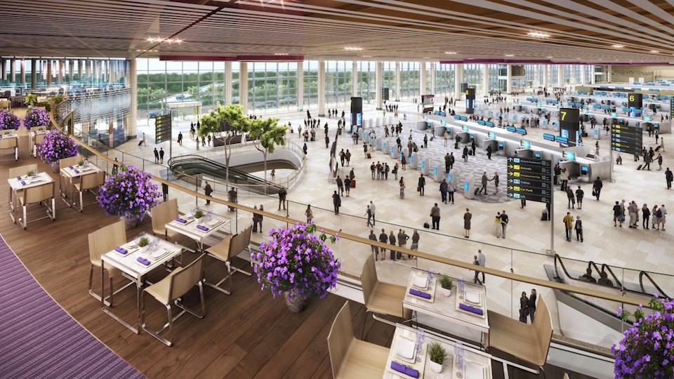 Terminal 4 Changi Airport Singapore. Image: Benoy.com