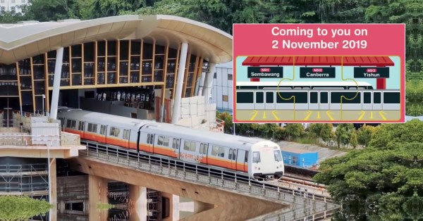 Canberra MRT Station Is Opening On 2 Nov & Will Make Journey To Town 10 Minutes Shorter
