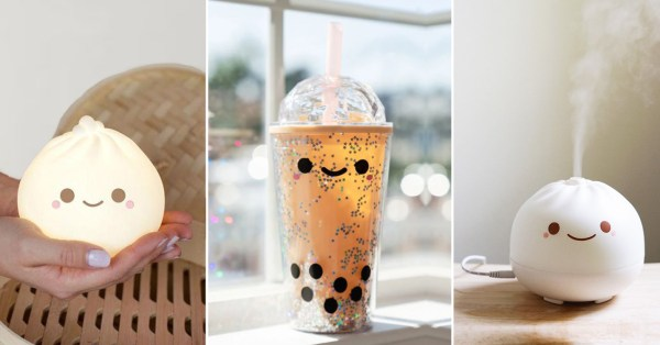 Heckin' Adorable Boba Tumblers & XLB Dumpling Lamps Make Us Wanna Dim Sum Lights ASAP