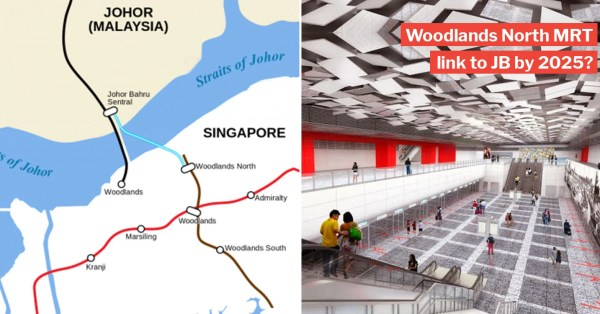 Woodlands North MRT Link To JB Will Ferry 10,000 People/Hr, M'sia Confirms To Proceed