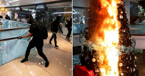 S'pore Company Mapletree Loses Money After Hong Kong Protesters Torched & Wrecked Its Overseas Mall