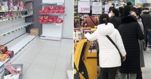 South Koreans Are Panic Buying After Shocking Spike In Covid-19 Cases, Supermarkets In Daegu Wiped Clean