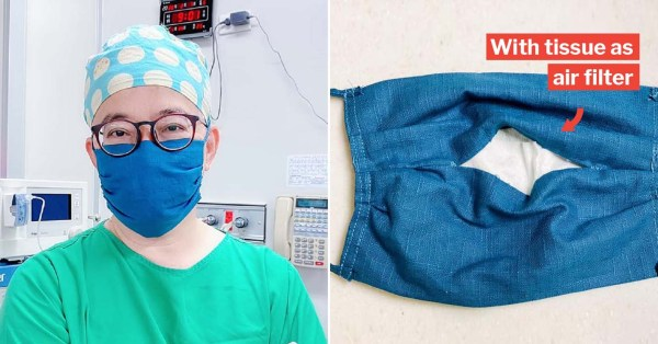 Taiwanese Doctor Teaches How To DIY Cloth Face Mask With Air Filter, So No Need To Scramble At Stores