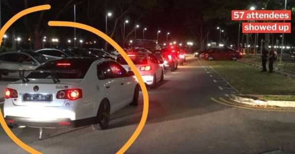 First S'porean Charged For Gathering Over 10 People At Illegal Car Race, Faces 6 Months' Jail & Fine