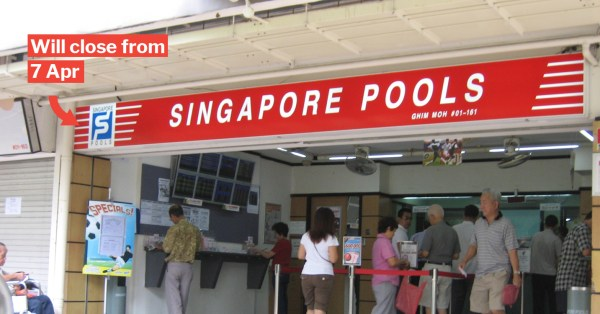 All S'pore Pools Outlets Will Be Closed From 7 Apr, As Betting On 4D & Toto Is Not Essential