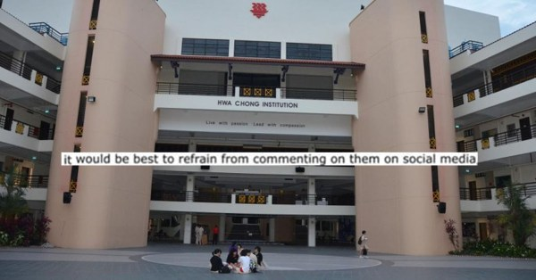 Hwa Chong Students Advised Not To Post GE2020 Views Online, Netizens Ask Why Not?