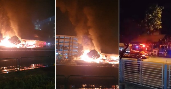 Sembawang Temple Catches Fire, Looks Like Scene Out Of Apocalypse