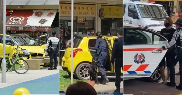 Suzuki Crashes Into Jalan Berseh Playground, Driver Arrested For Driving Without Consent