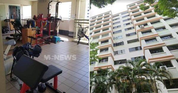 Woodlands HDB Lift Lobby Turns Into Mini Gym, Town Council Asks Resident To Remove Equipment