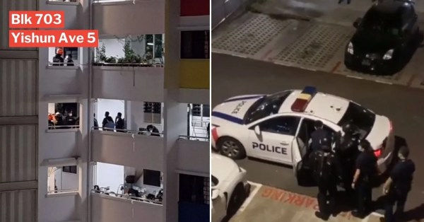 Police & SCDF Cordon Off Yishun Block After Call For Assistance, 1 Man Arrested