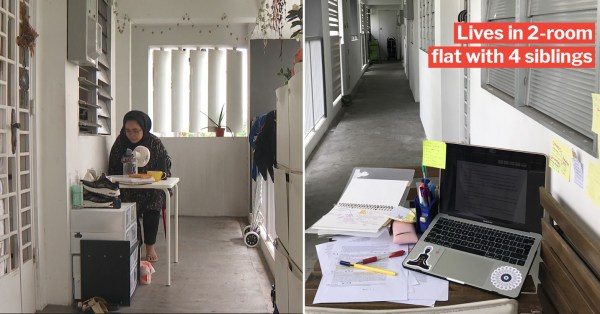 Student Spent 10 Hours Studying In HDB Corridor Daily During 'Circuit Breaker' So She Could Focus