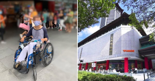 Tangs Security Guard Allegedly Chased Man In Wheelchair Away, Mall Says It's A Misunderstanding