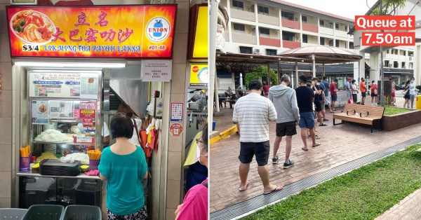 Famous Toa Payoh Laksa Stall Closing For Good, Last Day Of Business Sees Long Queues